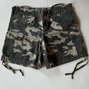 Camo Shorts 34 35 Waist L.E.I. Cotton